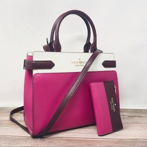 Kate spade staci medium satchel purse & wallet